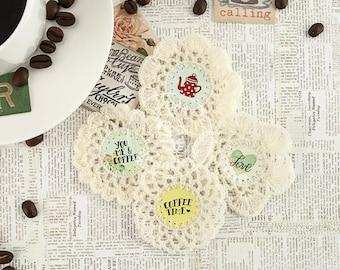 Coffee Break Crochet Icons 4/Pkg