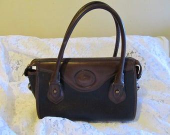 Vintage Dooney and Bourke Big Duck Black Brown Handbag