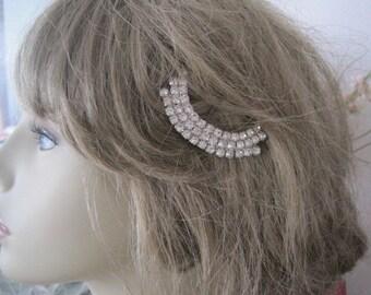 Vintage Art Deco Rhinestone Hair Pin Bobby Pin Bridal Hair Accessory