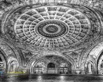 Beautiful Union Station B&W Fine Art Print