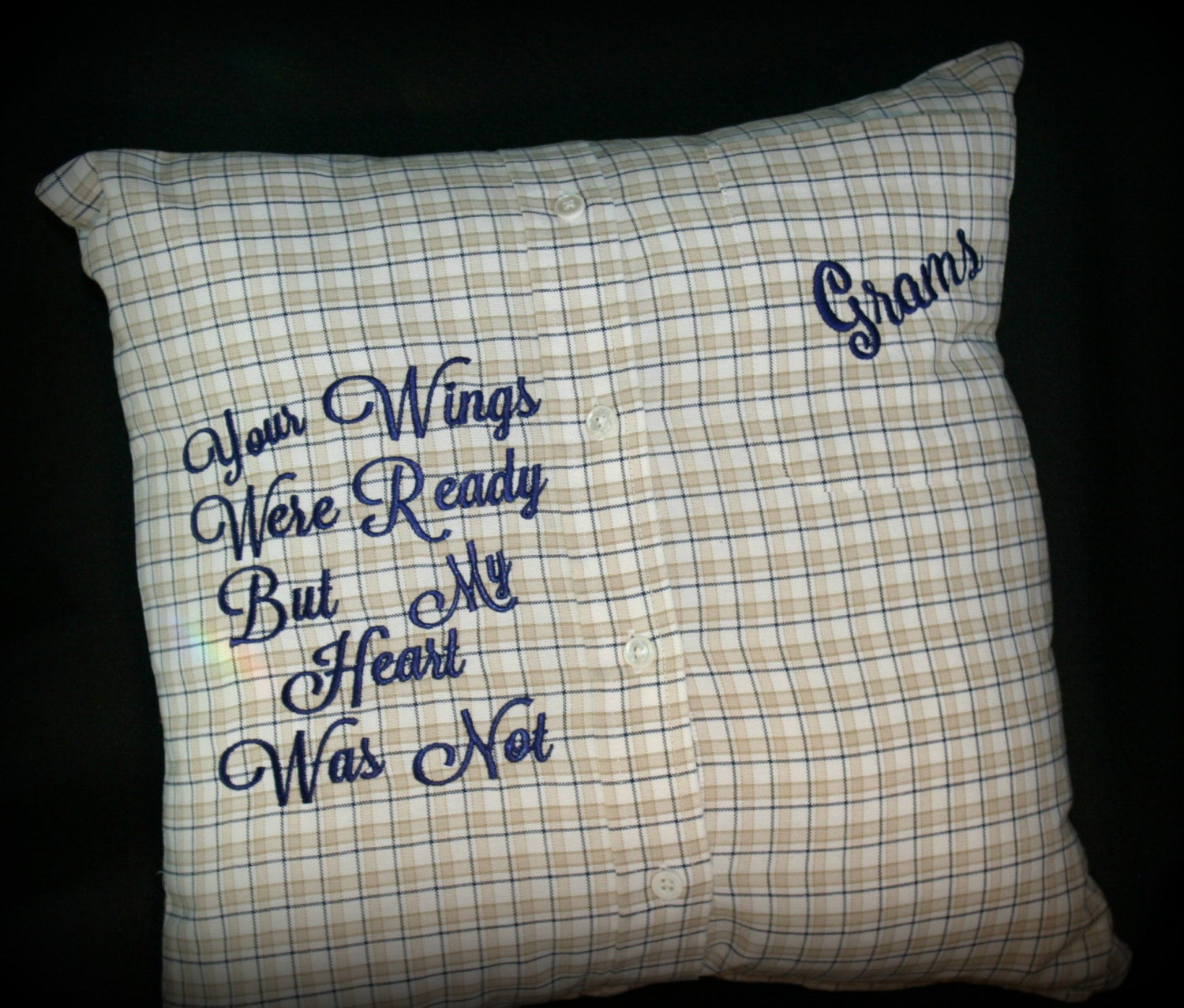 Personalized Embroidered Those we Love Memory Angel pillow Hug Pillow Loved Ones Keepsake Pillow Poem Pillow
