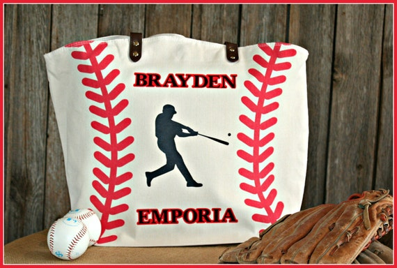Custom Distressed Baseball Tote/Bag