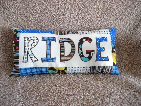 Pillow With Appliqued Child's Name