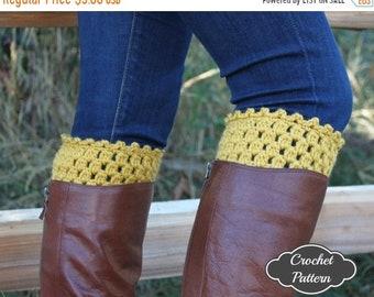 ON SALE CROCHET Pattern - Crochet Boot Cuff Pattern, Boot Topper Tutorial, Boot Cuffs, Fall Crochet Pattern, Boot Accessories