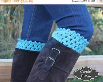 ON SALE CROCHET Pattern - Crochet Boot Cuff Pattern, Boot Topper Crochet Pattern, Crochet Boot Cuffs, Boot Accessories