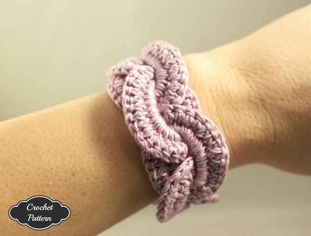 Crochet Pattern Crochet Bracelet Infinity Link Cuff Crochet Etsy