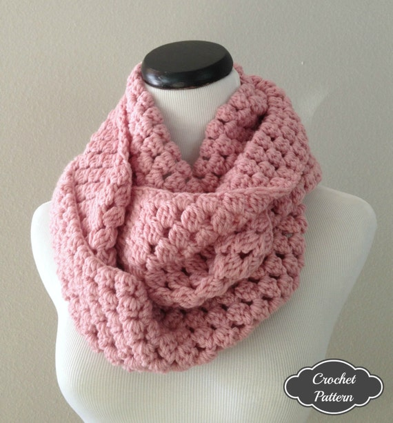 CROCHET PATTERN Chunky Crochet Infinity Scarf Pattern