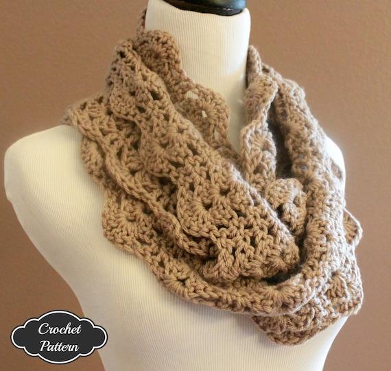 CROCHET PATTERN Chunky Crochet Infinity Scarf Pattern Etsy Amazing Beginner Crochet Patterns