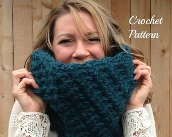 ON SALE CROCHET Pattern - Chunky Cowl Crochet Pattern, Crochet Cowl Pattern, Infinity Cowl Pattern, Crochet Scarf Pattern, Infinity Scarf Pa