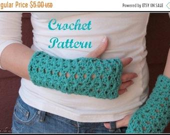 ON SALE CROCHET Pattern - Crochet Gloves Pattern, Fingerless Mittens Pattern, Fingerless Gloves Pattern, Easy Crochet Pattern
