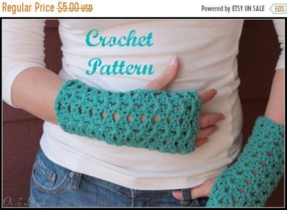 On Sale Crochet Pattern Crochet Gloves Pattern Fingerless Etsy