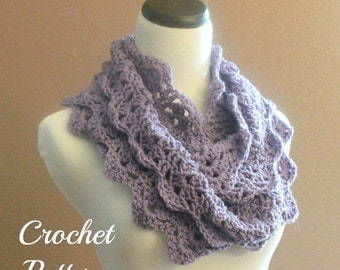 ON SALE CROCHET Pattern - Chunky Crochet Infinity Scarf Pattern, Infinity Cowl Pattern, Circle Scarf Pattern, Easy Crochet Pattern