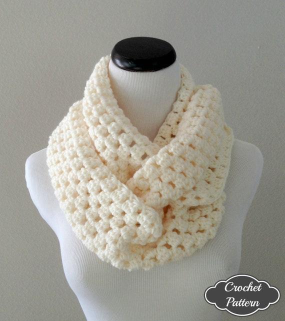 Crochet Pattern Chunky Crochet Infinity Scarf Pattern Etsy