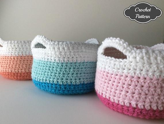 Crochet Pattern Crochet Basket Pattern Small Crochet Etsy