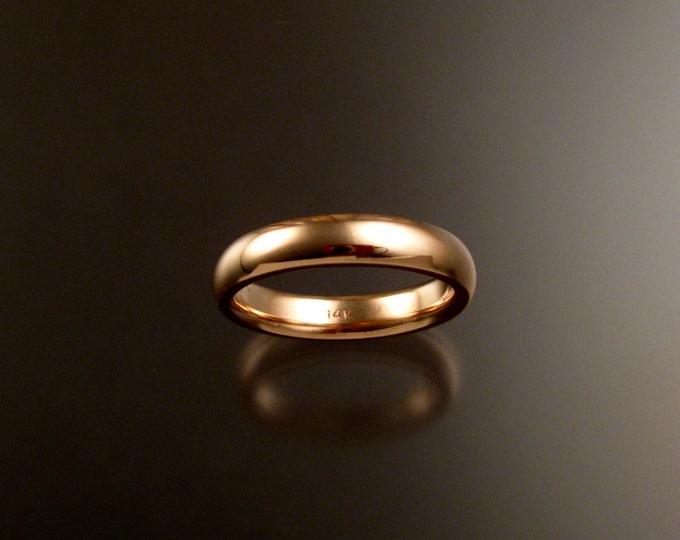 14k Rose Gold 2x5mm comfort fit polished domed Wedding band for Keysner only