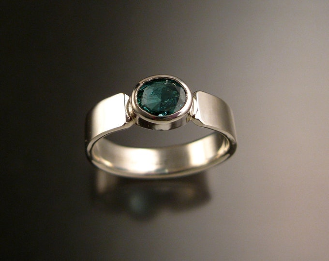 Emerald ring handmade natural Emerald bezel set stone made to order in your size