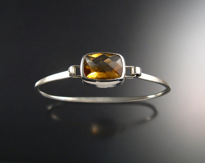 Citrine spring bracelet, Sterling