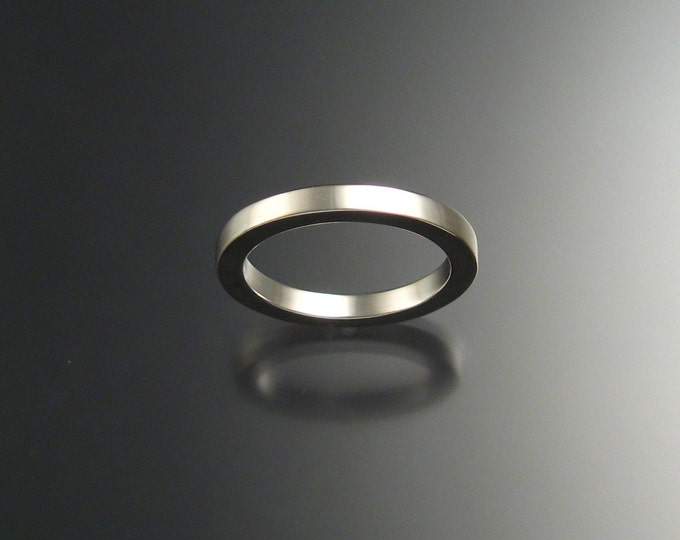 Sterling Silver Square Wedding band made to order in your size