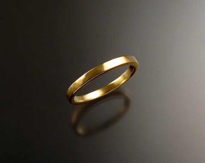 14k Yellow Gold wedding Band stackable gold ring
