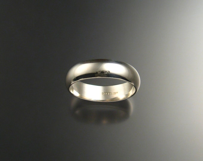 Sterling Silver Half Round Wedding band Wide ring made to order in your size
