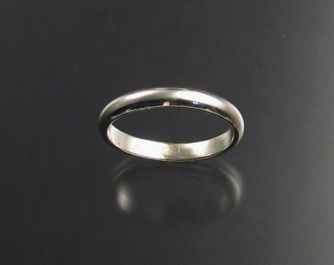 Sterling silver 2 1/2 mm Smooth band made to order in your Size