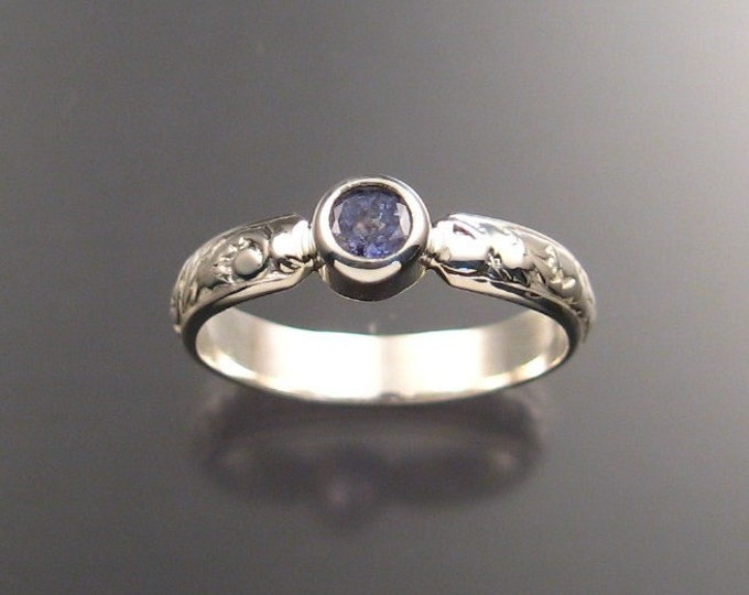 Tanzanite Ring, Sterling Silver made to order in your size