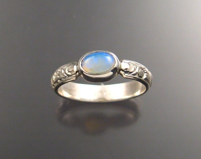 Opal Ring Sterling Silver made to order in your size