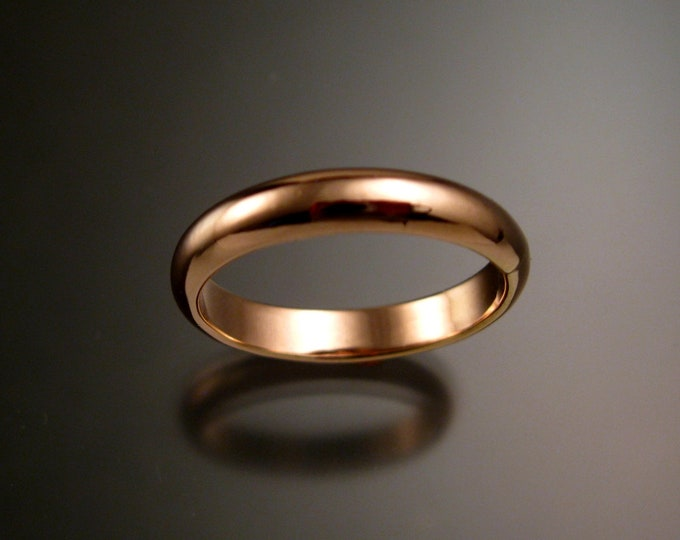 Rose Gold Filled wedding ring Band Handmade to Order in your size