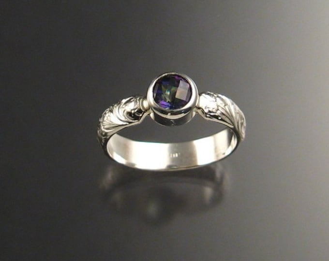 Mystic Topaz Ring, Sterling silver made to order in your size