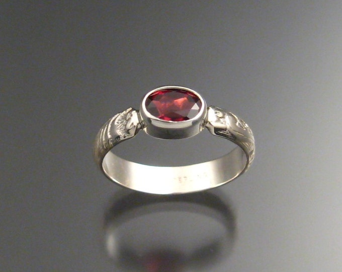 Garnet ring Sterling Silver made to order in your size