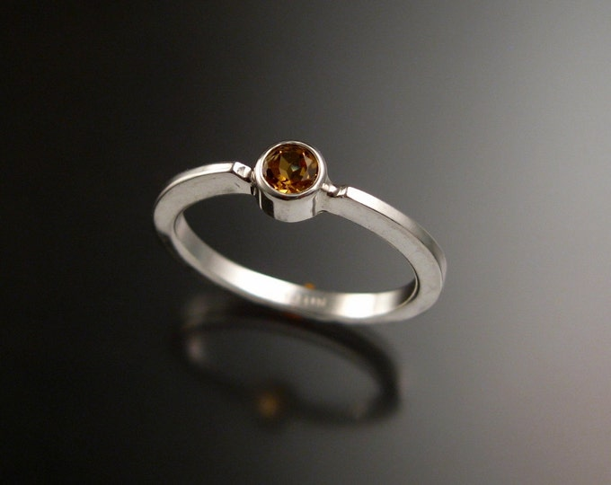 Citrine stackable ring Sterling Silver ring made to order in your size