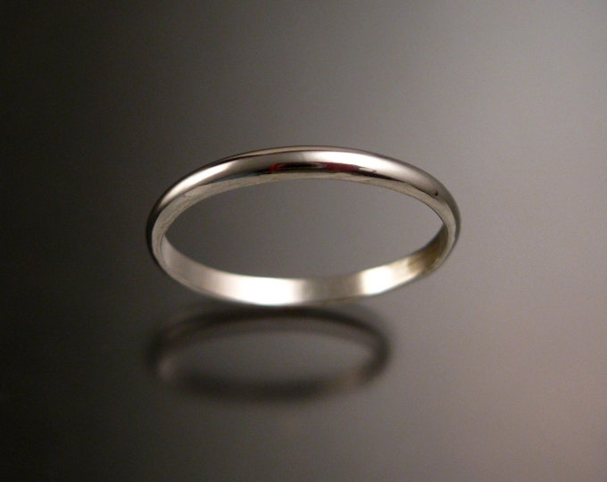 Sterling Silver lightweight wedding ring Band Handmade to Order in your size