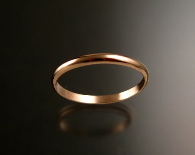Rose Gold Filled Lightweight wedding ring Band Handmade to Order in your size