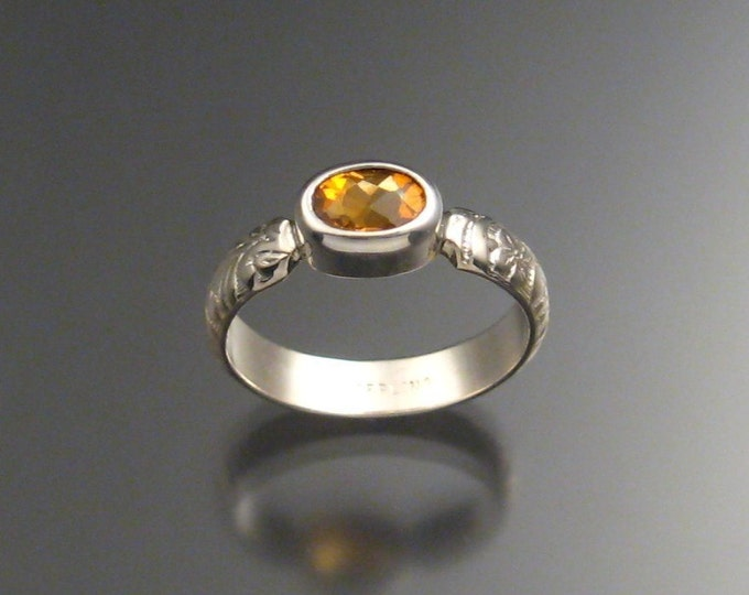 Citrine ring Sterling Silver made to order in your size
