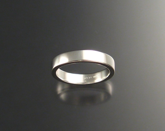 Sterling Silver Rectangular Wedding band made to order in your size