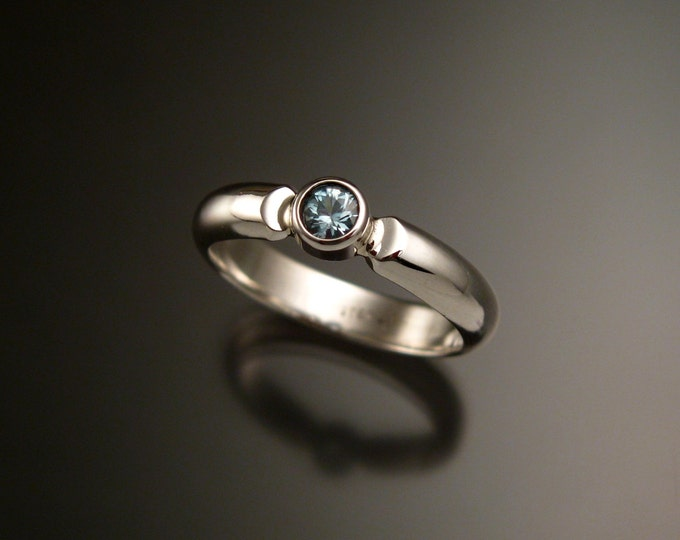 Blue Zircon ring made to order in your size