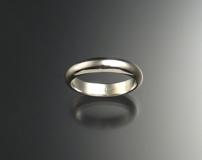 Sterling Silver Half Round Wedding band made to order in your size