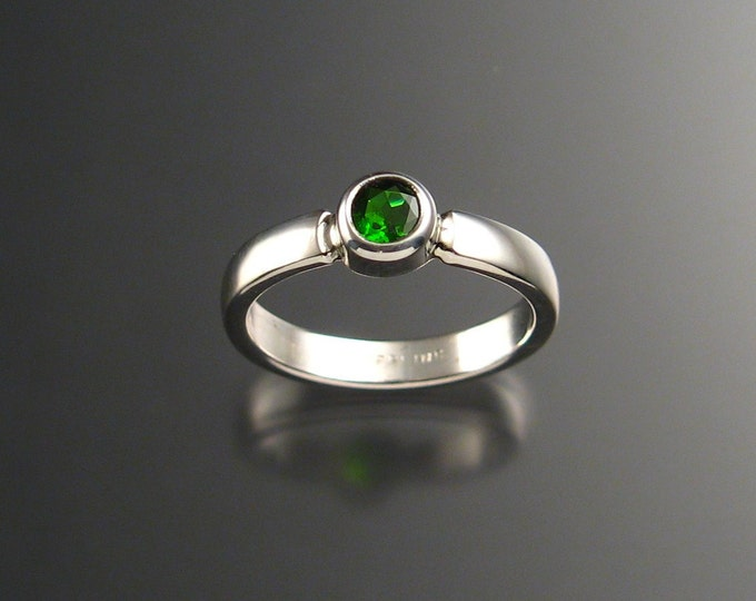 Chrome Diopside ring Sterling Silver Silver made to order in your size
