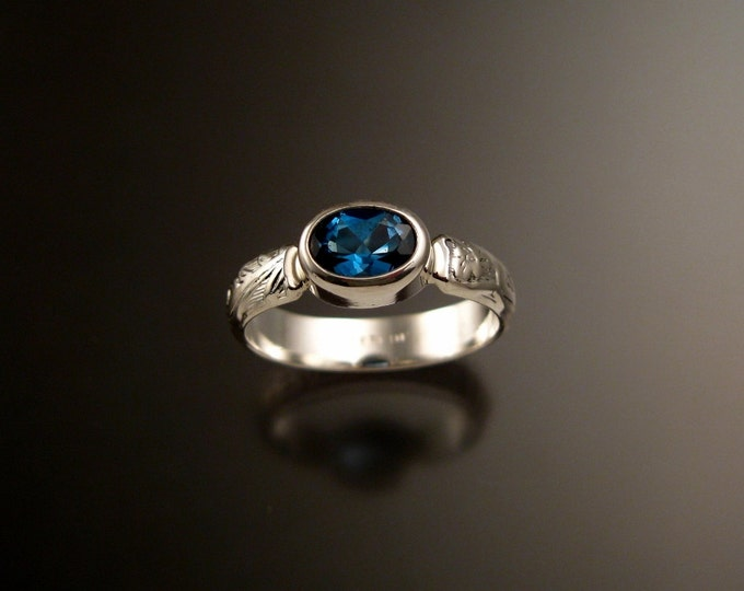 London Blue Topaz ring made to order in your size