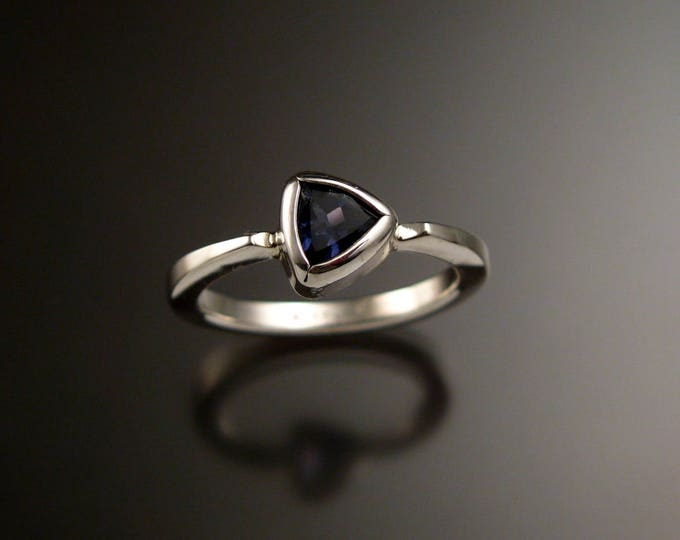 Iolite Triangular stacking ring Sterling Silver ring made to order in your size