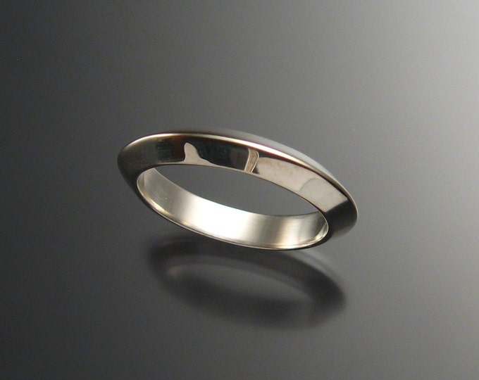 Sterling Silver Triangular Wedding band made to order in your size