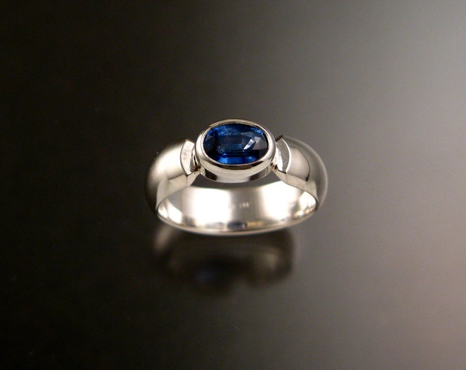 Kyanite ring blue Sapphire Substitute ring made to order in your size with sturdy Sterling silver band
