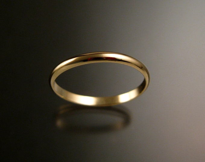 Yellow Gold Filled Lightweight wedding ring Band Handmade to Order in your size