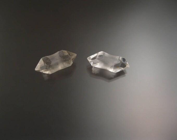 Quartz Crystal Plug earring set Natural double terminated specimen Crystal plugs