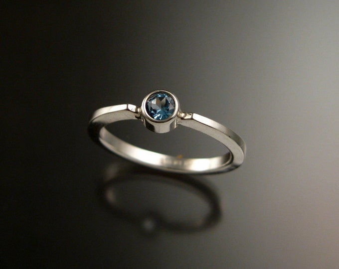 Blue Topaz stackable ring Sterling Silver ring made to order in your size
