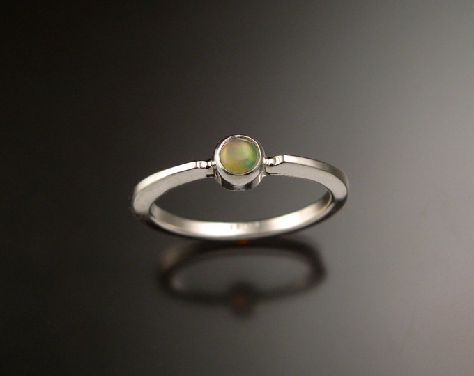 Opal Sterling Silver stackable ring made to order in your size