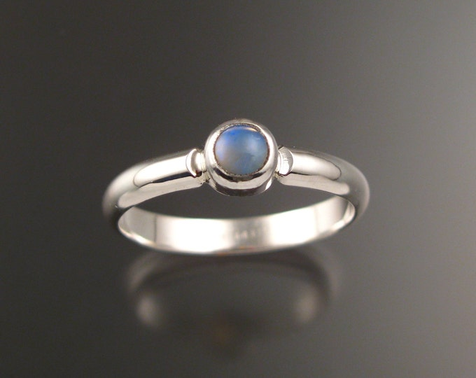 Opal Ring Sterling Silver Bezel set Crystal Opal ring made to order in your size