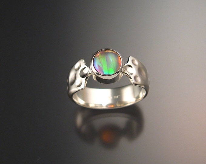 Moonstone and soft pink lab Opal Doublet ring Sterling Silver made to order in your size