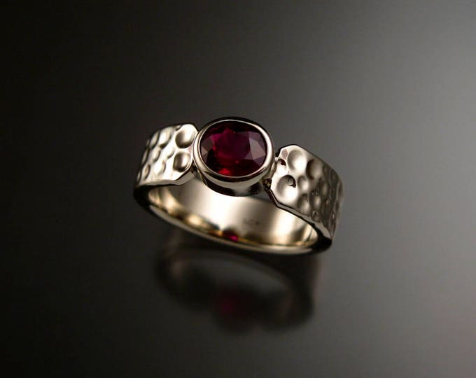 Ruby Moonscape band Large Natural Ruby ring made to order in your size