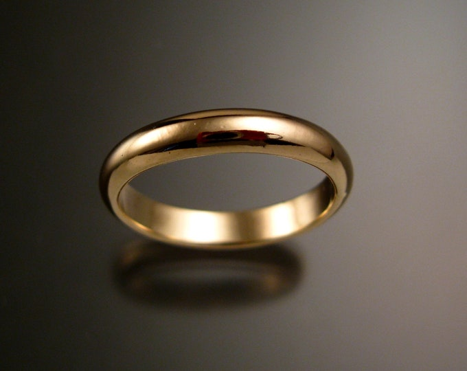 Yellow Gold Filled wedding ring Band Handmade to Order in your size